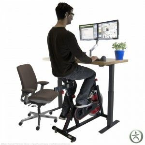 Uplift Bike Desk Review The Human Solution Home Gym Add