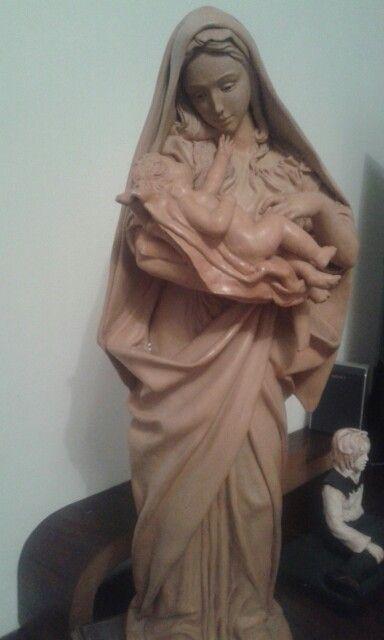 Madonna in terracotta pezzo unico..su ordinazione