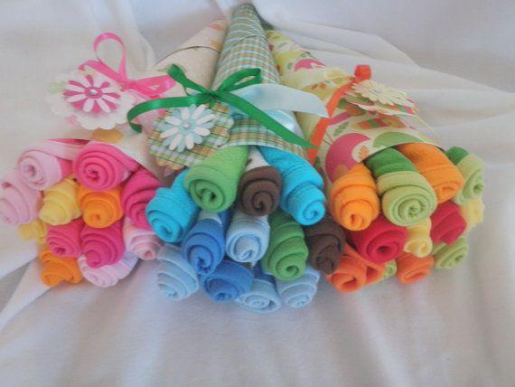 Asciugamano Baby Bouquet per ragazza ragazzo o di TheCraftyStork