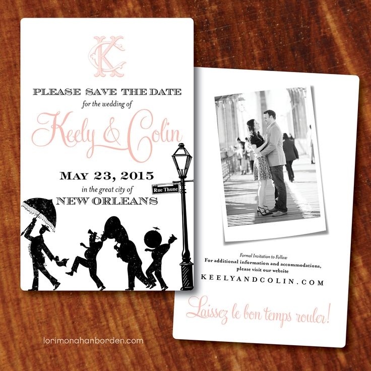 New Orleans Save The Date! Lori Monahan Borden Design Llc  Www.lorimonahanborden.com. New Orleans WeddingLingerie ShowerInvitation ...