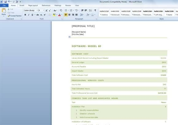 21 Free Word Proposal Templates Business Proposal Template