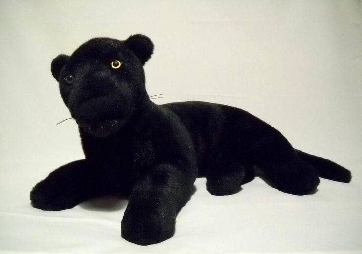 fiesta black panther cat plush vintage lying jaguar large stuffed animal 21 ebay soft cuddly. Black Bedroom Furniture Sets. Home Design Ideas
