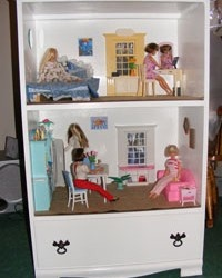 Re-purpose an old dresser into a Barbie Dream Home