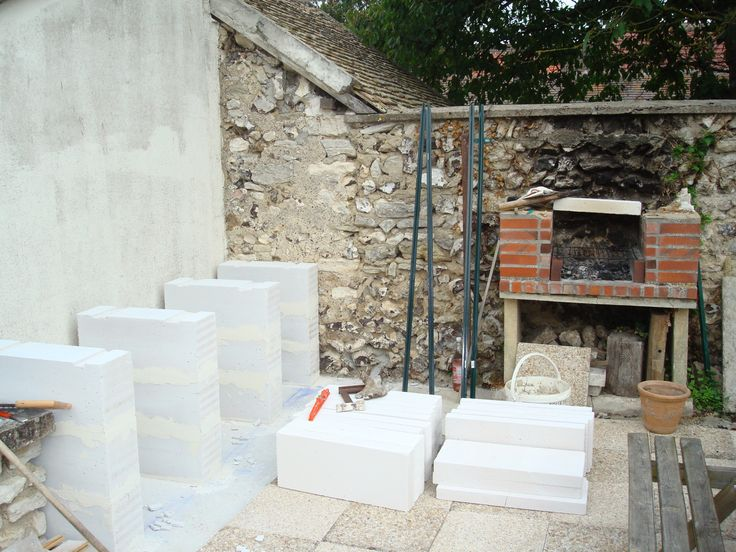 construction d'un barbecue sur mesure