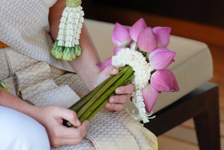 Pink Lotus Jasmine Flowers Bouquet