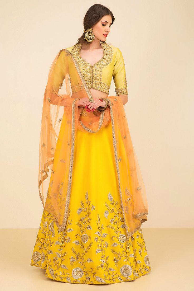 NIYOOSH hues of yellow lehenga set