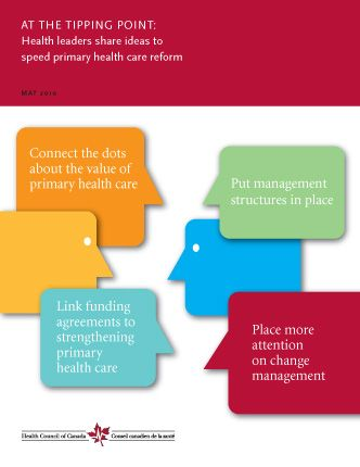 AT THE TIPPING POINT: Health leaders share ideas to speed primary health care…