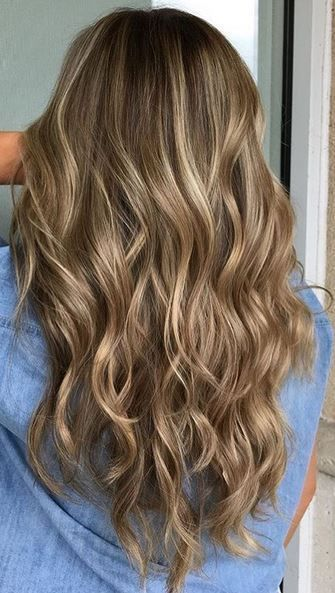 Adding in soft blonde highlights on a dark blonde base breaks it up, giving dime…