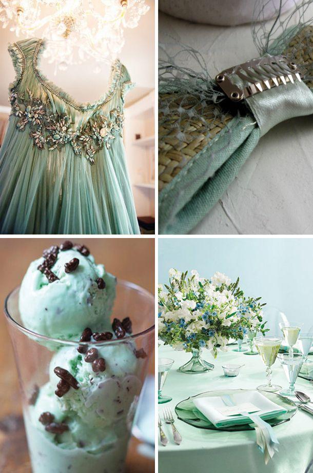 seafoam greenMint Chocolate Chips, Chocolates Chips Ice, Seafoam Green, Ideas, Mint Inspiration, Brides Blog, Mint Chocolates Chips, Ice Cream Cakes, Stunning Dresses