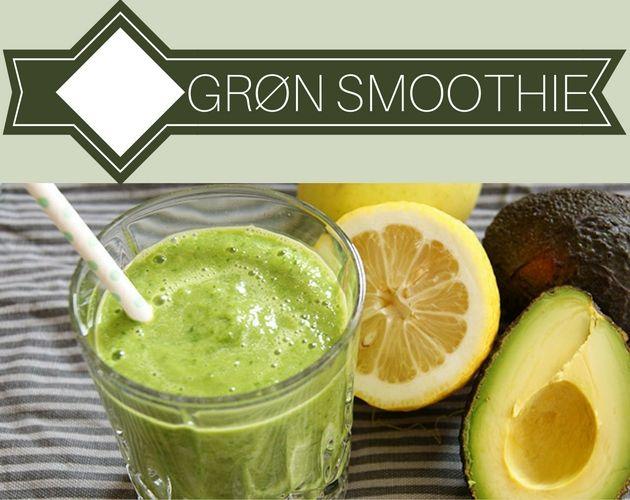 Fantastisk grøn smoothie med en dejlig cremet konsistens fra avocadoen. Man lægger næsten ikke mærke til, at den er sund.