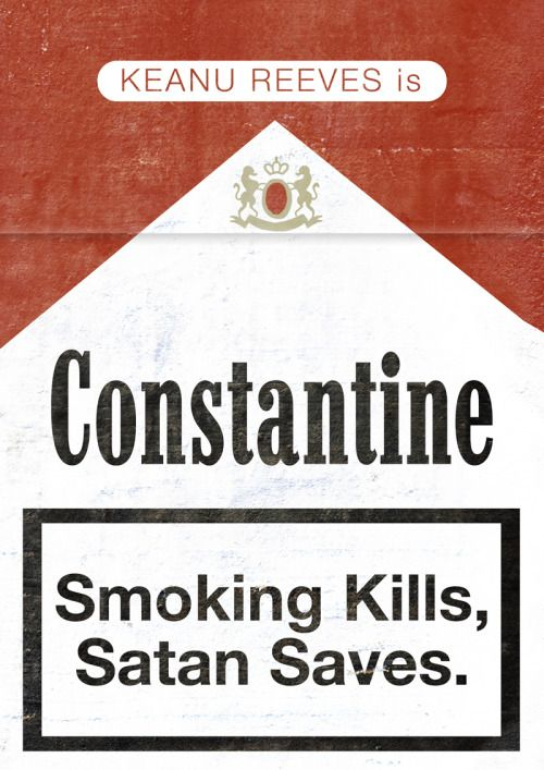 Constantine (2005) ~ Minimal Movie Poster by Joel Amat Guell #amusementphile