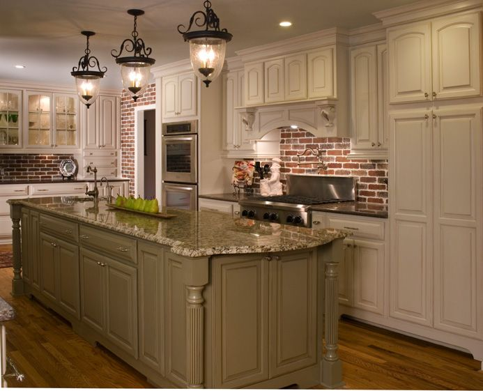 Love the exposed brick.  A French Quarter Kitchen Renovation