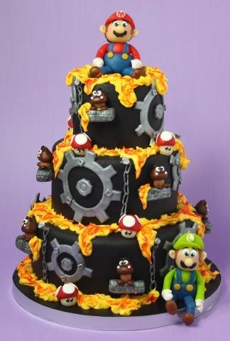 Super Mario lava land cake