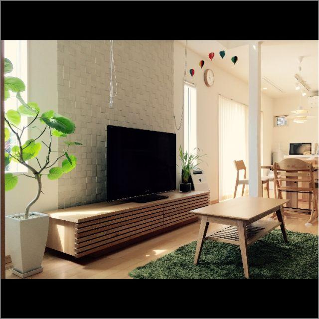 エコカラット/シンプル/TVボード/ウンベラータ/観葉植物/リビングテーブル…などのインテリア実例 - 2015-03-23 12:00:45 | RoomClip(ルームクリップ)