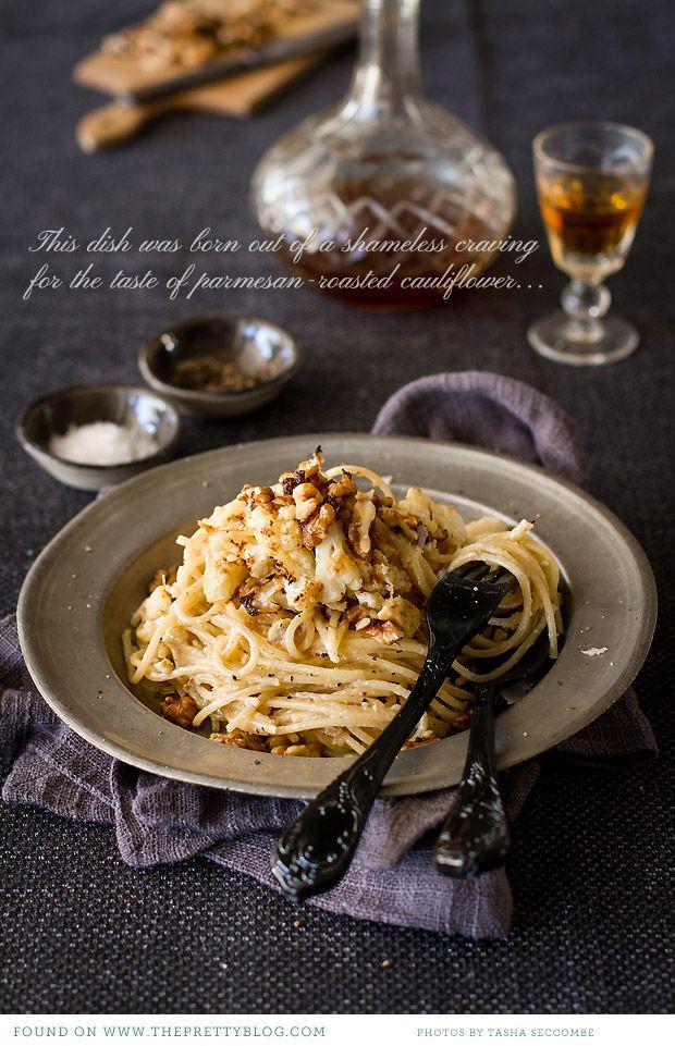 Spaghetti with Roasted Cauliflower {Recipe} | Photography: @Tasha Adams Seccombe, Recipe, testing & preparation: The Food Fox