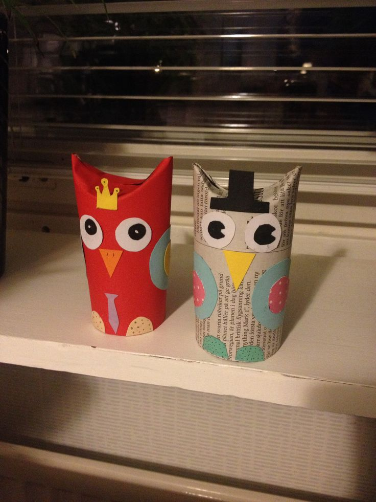 Arts and crafts for kids toilet paper roll owl diy