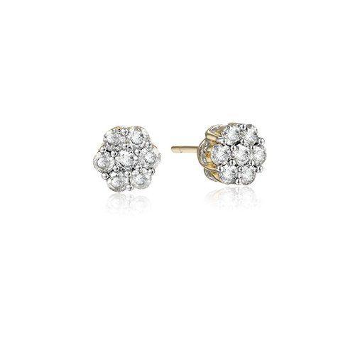 10k Yellow Gold Diamond Stud Earrings (1 cttw, K-L Color, I3 Clarity) - $345.19