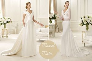 For brides whose watchwords are classic and elegant, then the 2013 Manuel Mota wedding dresses are a must-see. This collection evokes Grace Kelly and Kate Middleton's wedding style perfectly
