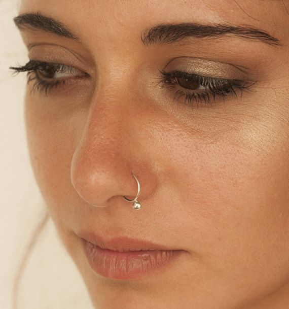 Unique Nose Ring Gold Nose Ring Silver Nose Hoop Nose Etsy Unique Nose Rings Gold Nose Rings Nose Ring Jewelry