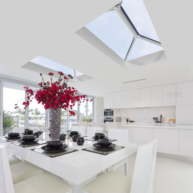 Our stunning range of stylish rooflights add a stunning feature to any flat roof or extension. They reduce the need for chunky ridges and help to maximise light.