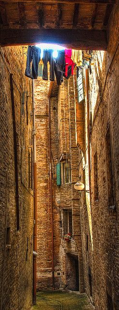 An ancient alley in Urbino, Italy