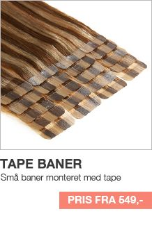 Tape Hair Extensions - Billige Hair Extensions i ægte REMY hår. Se udvalget hos Myextensions.dk