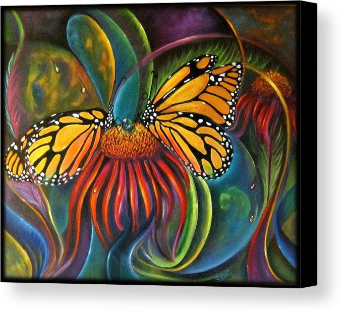 Curvismo Canvas Print featuring the painting In The Garden by Sherry Strong