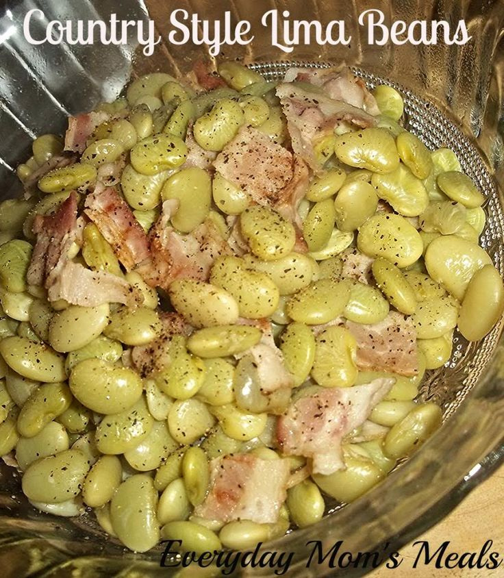 Country Style Lima Beans. Cracker Barrel style. http://www.everydaymomsmeals.blogspot.com/2012/01/second-times-charm.html