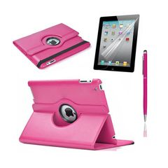 iPad Rotatable Case, Stylus & Screen Protector (Any Colour)