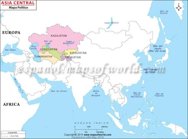 Ms de 25 ideas increbles sobre Mapa de asia en Pinterest  Mapa