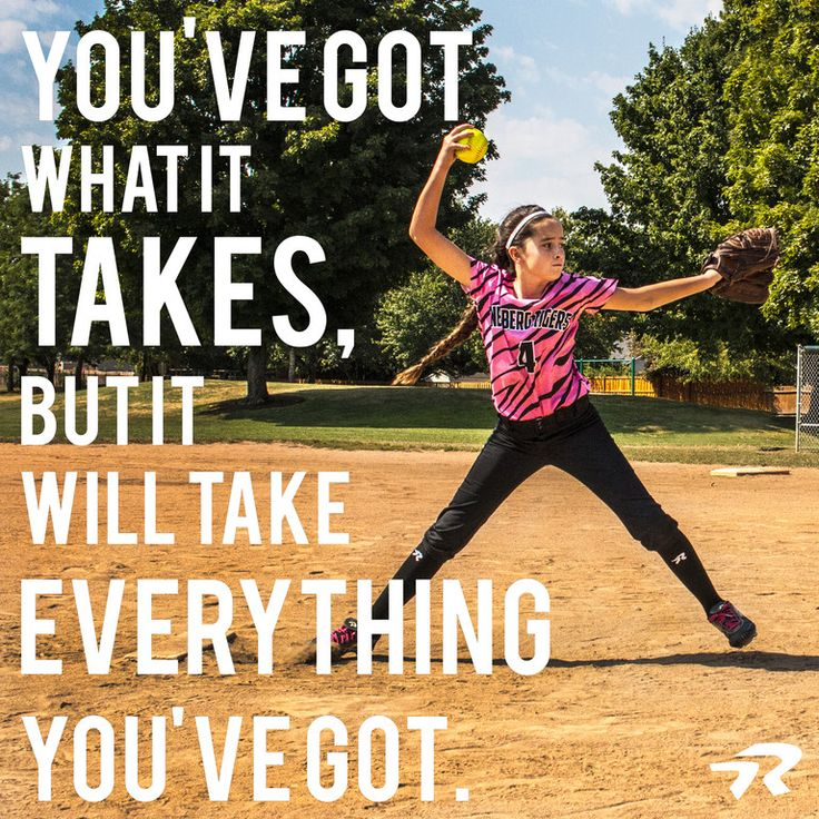 So give it your all.  #softballstrong