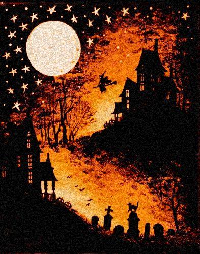 Lovely Halloween back drop