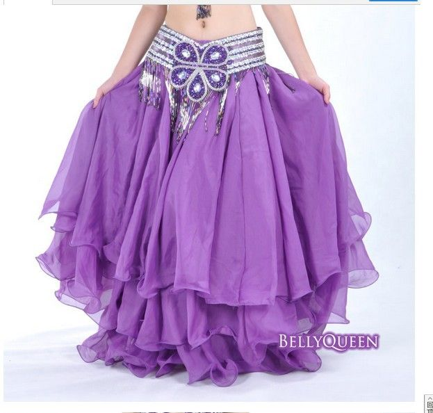 BELLY DANCE TRIBAL GYPSY ATS RENAISSANCE PIRATE WENCH chiffon COSTUME large SKIRT dress dancewear 3 layer 14color-in Belly Dancing from Apparel & Accessories on Aliexpress.com
