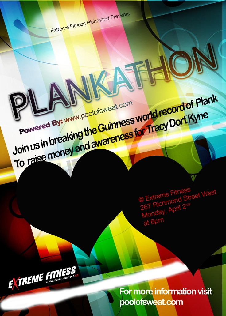 Plankathon is coming up soon. More info at http://www.poolofsweat.com