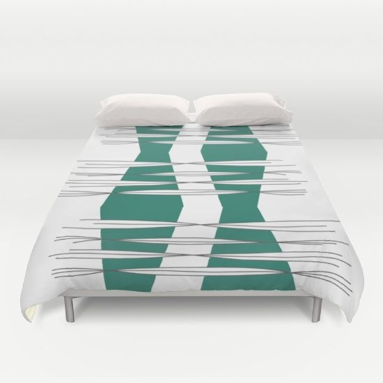 Buy ultra soft microfiber Duvet Covers featuring Intersections  by Mindssgreen. Hand sewn and meticulously crafted, these lightweight Duvet Cover vividly feature your favorite designs with a soft white reverse side.
