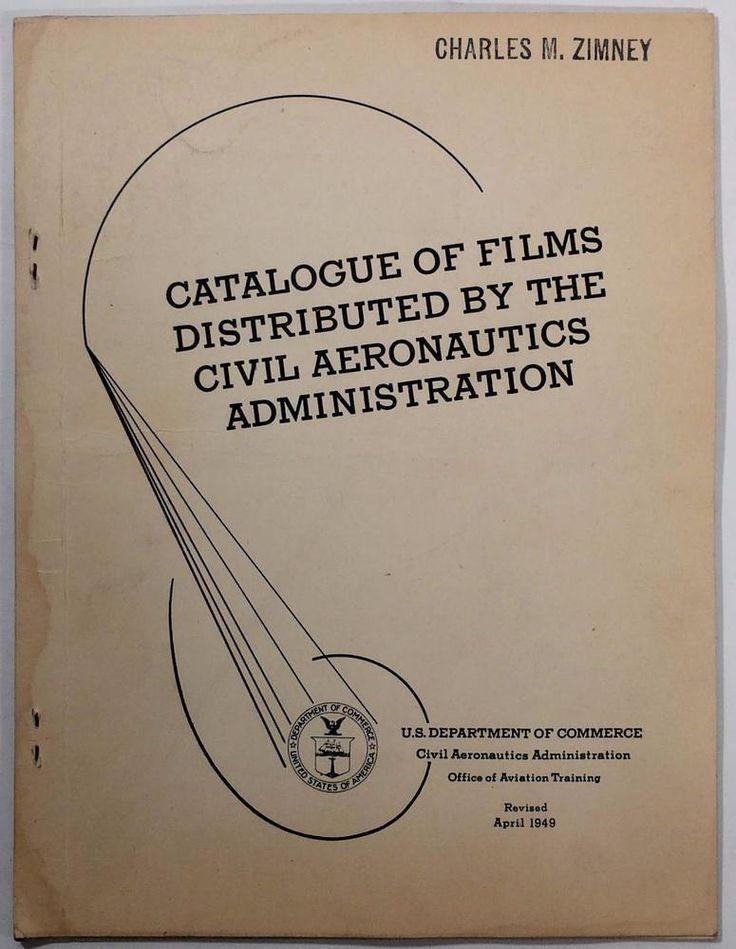 1949 Civil Aeronautics Administration Films Catalogue Aviation Training