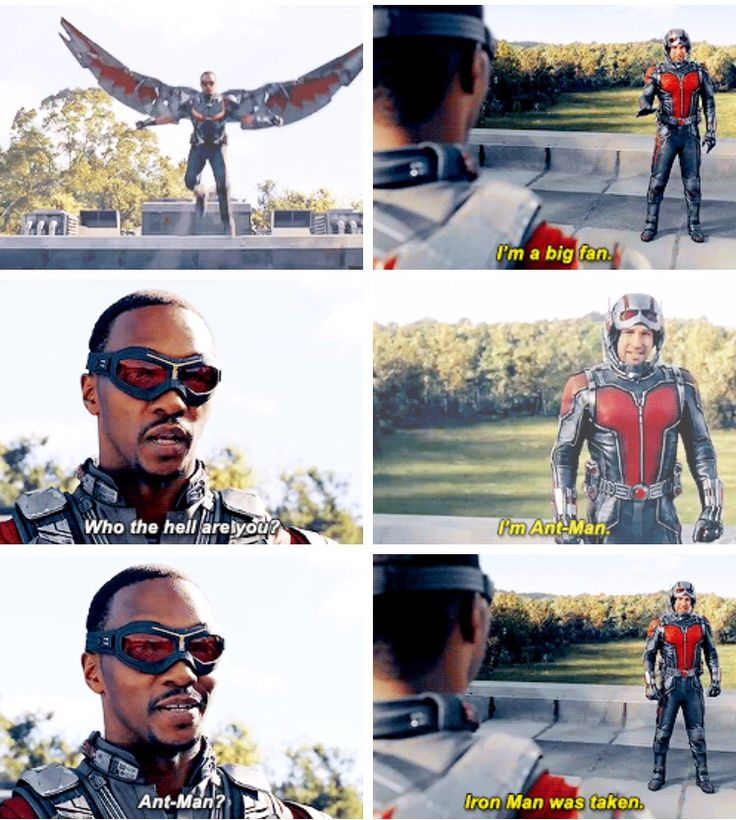 "When I saw the Avenger's facility in Antman I said ""watch Falcon swoop in""... 3 seconds later this happens"