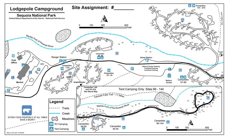 Lodgepole Campground Map Sequoia National Park Trip