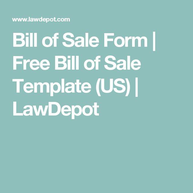 Bill of Sale Form | Free Bill of Sale Template (US) | LawDepot