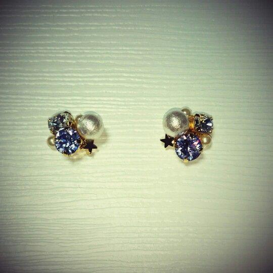 bijou pierced earrings...lavender × star☆