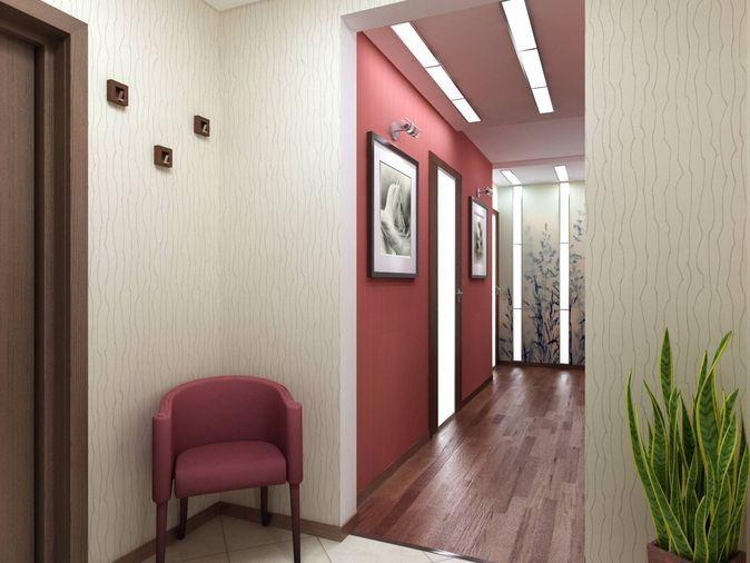Покраска стен в коридоре фото фото