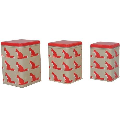 Anorak tins 'proud foxes' (set of 3)