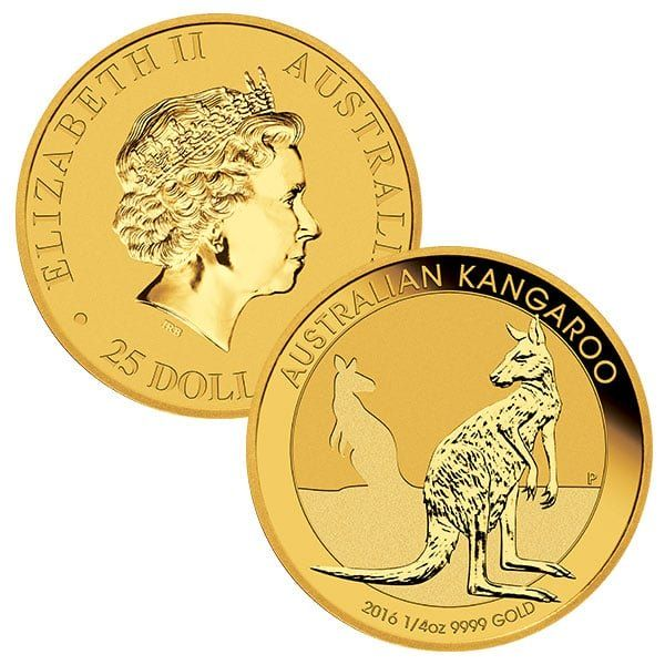 The 1 4 Oz Australian Gold Kangaroo Coins Have A Legal Tender Value Of 25 Aus Gold Coins For Sale Gold Coin Price Australian Gold