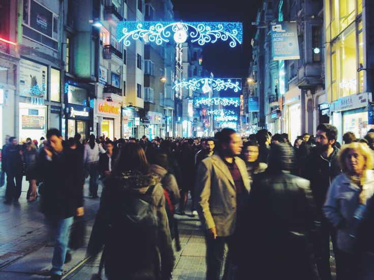 Streets of Turkey. istiklal Street Istanbul at night #streetphotography #night #streets #Istanbul #Turkey #lights #shopping #Favorite #Places