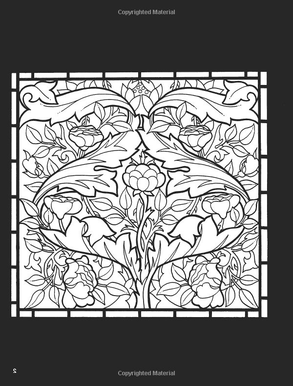 william morris stained glass coloring book william morris a g smith 9780486410425 books