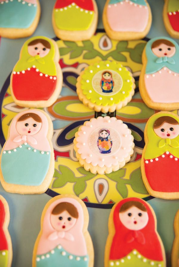 Playful Nesting Doll Party Theme {First Birthday}gorgeous cookies
