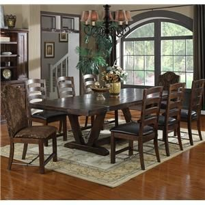 Emerald Home Castlegate Extra Long Trestle Dining Table With 16 In. End  Leaves   Distinguished And Casually Chic, With The Emerald Home Castlegate  Extra ...