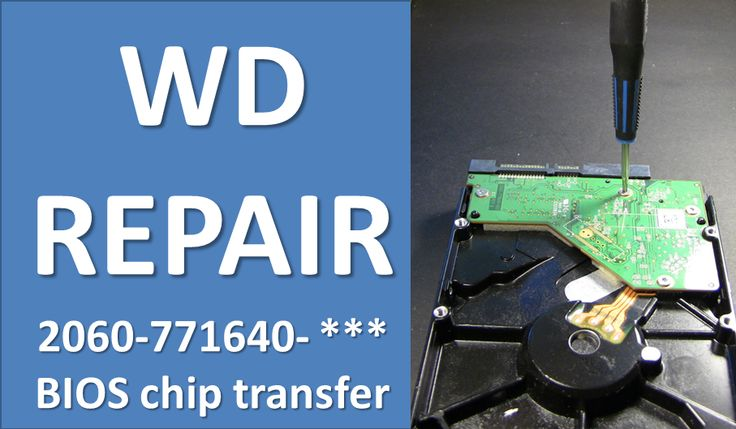 How to repair WD HDD by swap PCB board: 2060-771640-003
