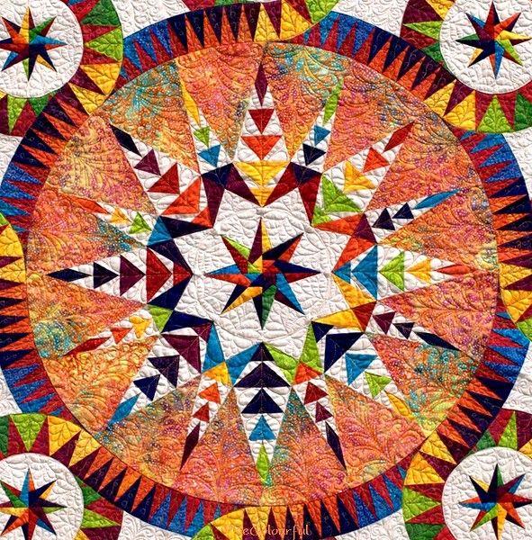 Detail of Wheel of Fortune; a Jacqueline de Jonge design