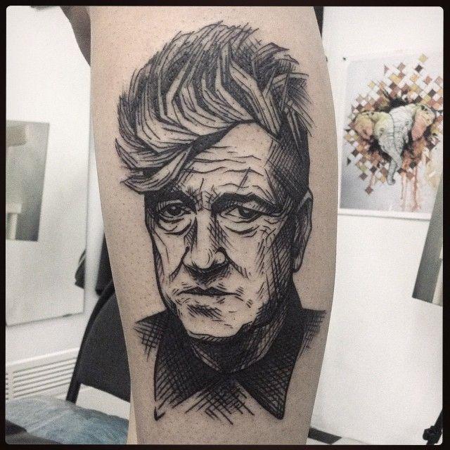 David Lynch Portrait by Yanina Viland at Viland Art Mod, St. Petersburg, Russia